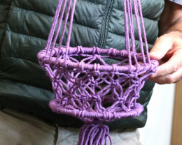 85cm  Lavender Macrame Pot Holder code C-MACPPAS