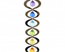 35cm Chakra Rainbow Spinning Mobile  code C-CHAK7SM