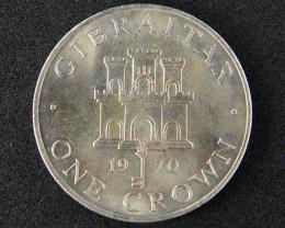 1970 British Gibraltar One Crown  code T 328