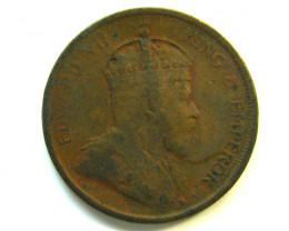 1907 British Straits Settlement 1 Cent coin code    J 346