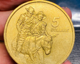 1990 Anzac Day Coin $5 WW1 Anniversary Commemorative Coin J1690