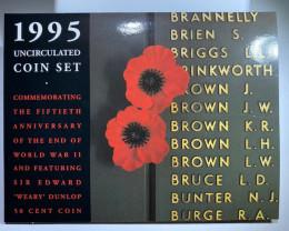 1995 UNC FIFTIETH ANNIVERSARRY WORLD WAR 2  COIN SET