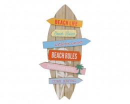 55cm Tropical Beach Surfboard Sign   code C-BEASURSG