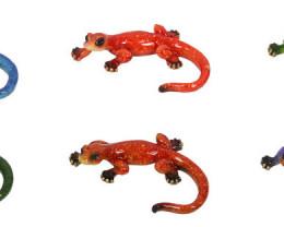 10cm   6 Marble Lizards   code C-LIZMPACK