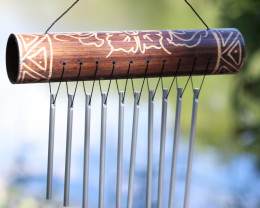 Bamboo Top Tribal Windchime  code C-BAMMINC