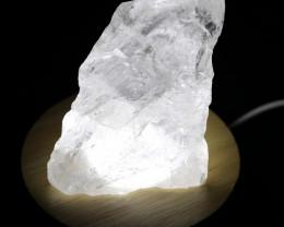 USB LED Light display with White Himalayan Crystal AHA 614