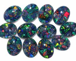 12 cts Australian Opal  Mosaic Triplets Parcel 12  FO 1611