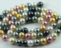 6 mm Shell Pearl colour Strand  AHA 621