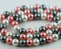 6 mm Shell Pearl colour Strand  AHA 623
