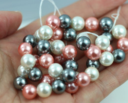 8 mm Shell Pearl colour Strand  AHA 632