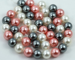 8 mm Shell Pearl colour Strand  AHA 634