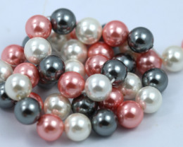 10 mm Shell Pearl colour Strand  AHA 642