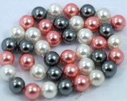 10 mm Shell Pearl colour Strand  AHA 643