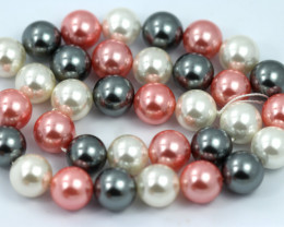 12 mm Shell Pearl colour Strand  AHA 649