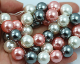12 mm Shell Pearl colour Strand  AHA 650