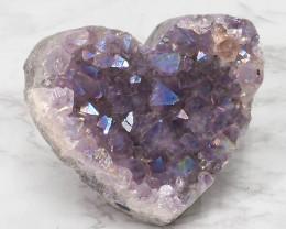 Titanium Purple Amethyst Druze Heart DN115