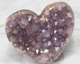 Titanium Purple Amethyst Druze Heart DN118