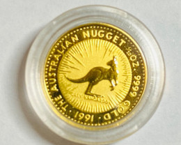Perth Mint The Australian gold Nugget 1/20 Ounce Gold 1991