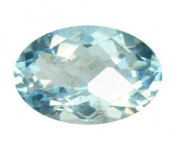 *NoReserve*Aquamarine 1.57 Cts Unheated Blue Natural Gemstone