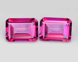 *No Reserve* Pink Topaz 3.70  Cts 2pcs Beautiful Lovely pair Natural Gemsto