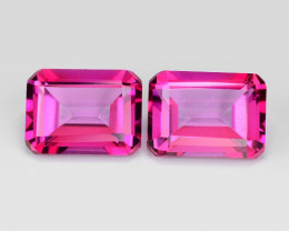 *No Reserve* Pink Topaz 3.58 Cts 2pcs Beautiful Lovely pair Natural Gemston