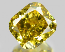 Diamond 0.40 Cts Sparkling Fancy Yellowish Green Color Natural
