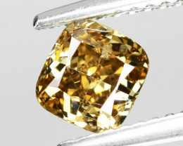 Diamond 0.85 Cts Sparkling Fancy Pinkish Brown Color Natural