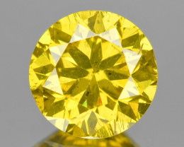 Diamond 0.66  Cts Sparkling Fancy Intense Yellow Color Natural