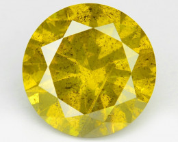 Diamond 1.41 Cts Sparkling Fancy Intense Yellow Natural Diamond