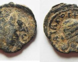 Greek coin found Biblical lands Decapolis  .AD 218-222   code  1186
