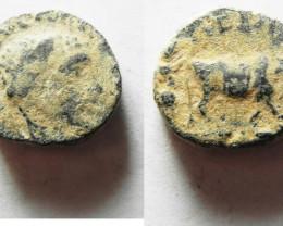 Roman coin found Biblical lands Elagabalus  .AD 218-222 code 1187