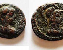 Roman Coin found in Egypt.  As Caesar  Tetradracham AD 221-222 code CC 1190