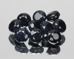 Diamond 1.10  Cts 10pcs 2.5mm Sparkling Fancy Jet Black Natural Diamond