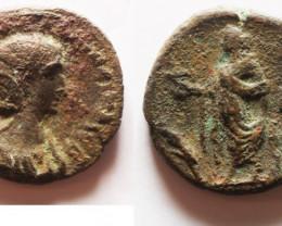 Provincial Roman coin found in Egypt Alexandria. 287-288 AD    code CC 1195