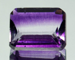 1.72 Cts  Natural Purple Fluorite Bi-Color Octagon Afghanistan