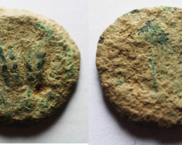 Holy Land  Prutah 37-43 CEcode CC 1213