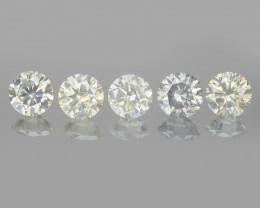 Diamond 0.89 Ct 5pcs Untreated Greenish Yellow Natural Diamond