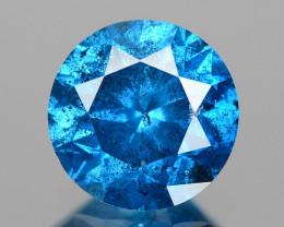 Diamond 0.82 Cts Sparkling  Fancy Intense Blue Natural Loose Diamond