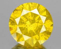 Diamond 0.86 Cts Fancy Intense Vivid Yellow Natural Diamond
