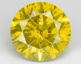 Diamond 1.02 Cts Fancy Intense Vivid Yellow Natural Diamond