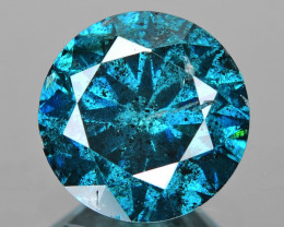 Diamond 0.92 Cts Sparkling Fancy Intense Blue Color Natural Diamond