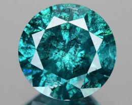 Diamond 0.84 Cts Sparkling Fancy Bluish Green Color Natural Diamond