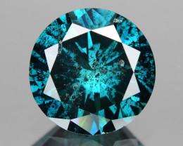 Diamond 0.92 Cts Sparkling Fancy Intense Bluish Green Color Natural Diamond