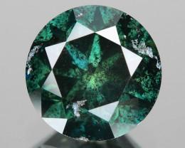 Diamond 0.90 Cts Fancy Green Color Natural Diamond