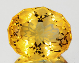 15.44 Cts Exceptionally Rare Natural Citrine Oval Magic Cut Collection Gem