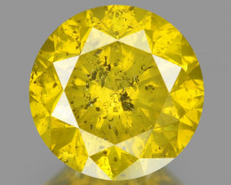 Diamond 1.07 Cts Sparkling Fancy Yellowish Green Natural