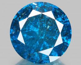 Diamond 1.01 Cts Sparkling Fancy Intense Blue Natural Diamond