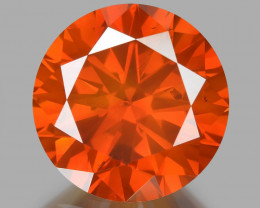 Diamond 1.00 Cts Sparkling Fancy Intense Red Natural