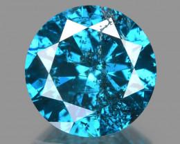 Diamond 1.00 Cts Sparkling Fancy Intense Blue Natural Diamond