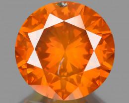 Diamond 1.00 Cts Sparkling Fancy Intense Orange Red Natural Diamond